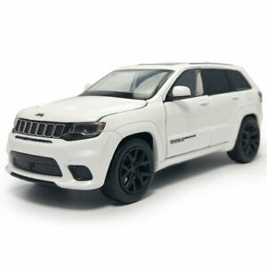 1:32 Jeep Grand Cherokee Trackhawk Model Car Diecast Toy Vehicle Sound White Kid