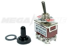 Heavy Duty 20A/125V DPDT On-Off-On Toggle Switch w/Waterproof Boot. USA SELLER!