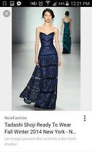 women's dress Tadashi Shoji model Rachel 2014, lace navy blue, size 6