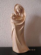 Madonna, Maria mit Kind, geschnitzt, mit Goldrand, modern