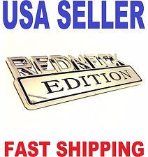 REDNECK EDITION CAR TRUCK FORD EMBLEM LOGO DECAL SIGN chrome BADGE ornament .tr