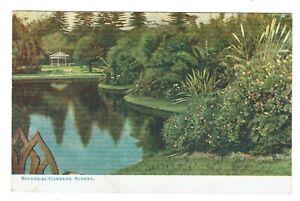 Genuine Antique Edwardian Stamped Postcard dated 1906 Botanical Gardens Sydney