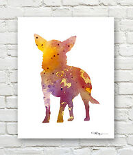 CHIHUAHUA 3 Contemporary Watercolor ART 11 x 14 Print by Artist DJR
