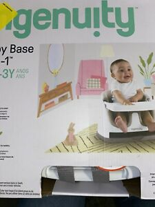 Ingenuity Baby Base 2-in-1 Booster Feeding andFloor Seat w/Self-Storing Tray NEW