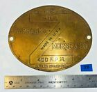 6 HP Brass Tag for FAIRBANKS MORSE Z Hit Miss Gas Engine Tractor Antique FM
