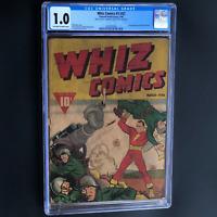 WHIZ COMICS #3 (#2) (1940) 💥 CGC 1.0 (OW-W) 💥 2ND APP OF CAPTAIN MARVEL! KEY
