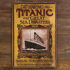 Sinking of TITANIC & Sea Disasters Cruise Liner Ship Metal Tin Sign decor advert
