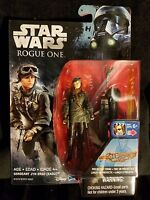 "Star Wars Sergeant Jyn Erso Imperial Disguise 3.75"" Figure Rogue One Wave 3 MIB"