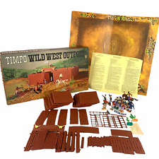 Vintage 1970s Timpo Wild West Outpost Set 257 w 12 Figures 99% Complete w Box