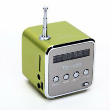 TF USB Stereo Speaker Music Player FM Radio for PC MP3 iPhone5S SAMSUNG-Green SY