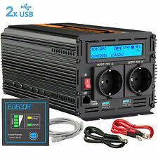 1000W/2000W Convertitore 12V 220V Onda Sinusoidale Pura Inverter con Telecomando