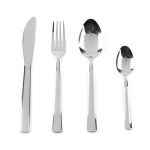 Progress BW06531 Darwen Polished Stainless Steel Dining Cutlery Set, 16 Piece