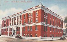 Wichita Kansas~YMCA Block~Vintage Cars~Joyriders~Boy Leans on Fire Hydrant~1914