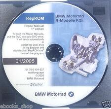 DVD MANUALE OFFICINA REPROM K2X WORKSHOP BMW MOTORRAD R 1200 GS RT ST -1^ed.2005