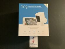 Ring Spotlight Security Surveillance Camera Wireless Battery HD White Alexa NEW