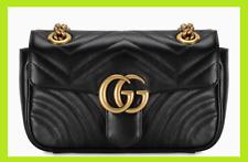 GG Small Marmont Black Matelasse Shoulder Bag Woman BLACK STYLE GUCCI