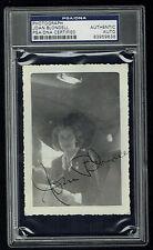 Joan Blondell signed autograph 3x4.5 Vintage 1940's Snapshot Photo PSA Slabbed
