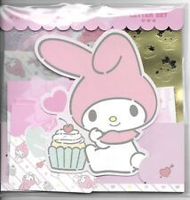 Sanrio My Melody Stationery Envelope Sticker Large Set Cupcake