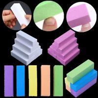 2/4/10Pcs Nail Art Buffers Beancurd Cube Grinding Block File  Tools