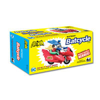 DC Comics Retro Batman Batcycle Playset: Red by FTC