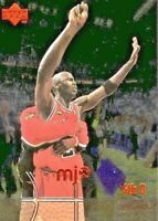 1998 MICHAEL JORDAN UPPER DECK MJx TIMELINE 4th QUARTER #122 BASKETBALL CARD