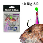10 Snapper Lure Bait Jig Fishing 6/0 Circle Hook Paternoster Knife Octo Mixed