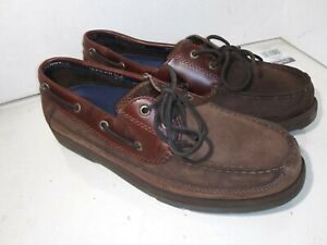 Sperry Top-Sider Mariner 0777503 Deck Shoes Brown Leather  Slip-On Mens 10.5 M
