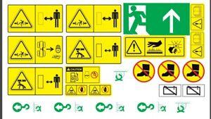 Warning Stickers for Volvo L90C Wheel Loader ( Complete Set / Kit )