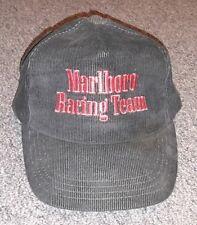 36431b5a490 CORDUROY Marlboro Team Penske SNAPBACK BASEBALL Hat Cap Indy Racing Black  OLD