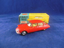 Corgi toys 210S Citreon DS 19 in Red Lightly Playworn Original & Boxed
