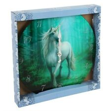 Unicorn Glass Wall Clock by Anne Stokes