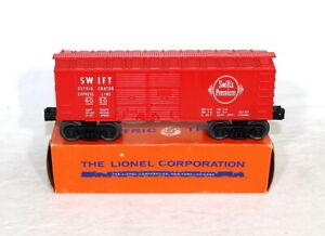 Postwar Lionel 6050-110 Swift Boxcar~Mint Unrun~w/Nice OB