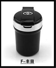 Car logo LED Light Ashtray Auto Travel Cigarette Ash Holder Cup Black For TOYOTA