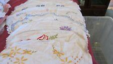 Vintage bulk embroidered  table centers doilies doileys