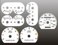 1990-1993 Ford Mustang 140 mph Dash Cluster White Face Gauges 90-93