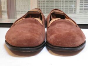 Men's George Cleverly Brown Suede Loafers Size 11.5 UK, 12 USA