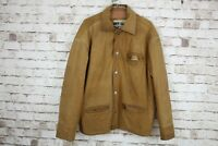 I.D Worldwide Basics Brown Leather Jacket size 40 No.M599 04/3
