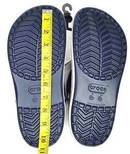 Crocs Bayaband Mens Clog stylish Comfy Water Friendly shoes Blue Red White Sz 10