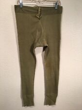 Vintage Military Army 1948 Winter Drawers Bottoms Base Layer Pants 40s War
