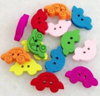 100pcs Mixed Colors Car Shape 2 Holes Wood Buttons Sewing Scrapbooking Knk214