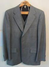 Vintage Younkers Imperial Mens 39R Blue Gray Weave 2 Piece Suit Jacket & Vest