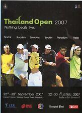 2007 Thailand Tennis Open Program Nadal Roddick Djokovic Becker Haas Karlovic