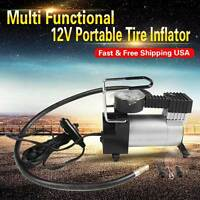 12V Air Inflator Car Auto Electric Air Compressor Tire Inflator Multifunction