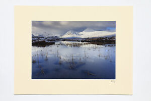 7x5, A4 or A3 photograph mounted or framed of ice on the River Ba', Rannoch Moor