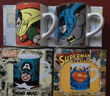 Lot 4 Mini Mugs Marvel Comics