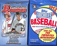 2012 Baseball Retail Pack Lot 1 Topps Archives pack and 1 Bowman pack
