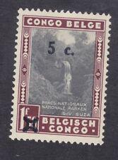 Belgian Congo 1941 - 5c on 1F 50c Black Maroon - SG242 - Mint Hinged (E16F)