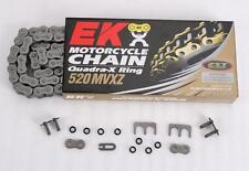 new EK 520 MVXZ Quadra X-Ring Chain motorcycle 120 Links Red 801R-520MVX-120