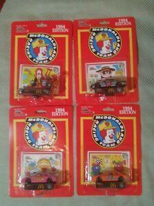 Lot of 4 Racing Champions McDonald's 1994 1:64 Cars Ronald Hamburglar Birdie