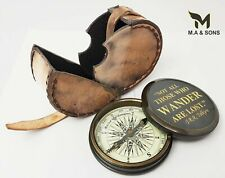 Brass Personalized Compass, Christmas Gift, Working Compass